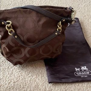 Coach tote bag with shoulder strap!